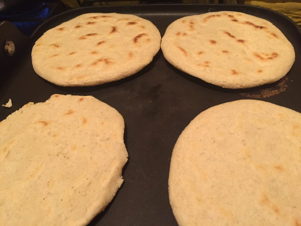 Making pupusas at home