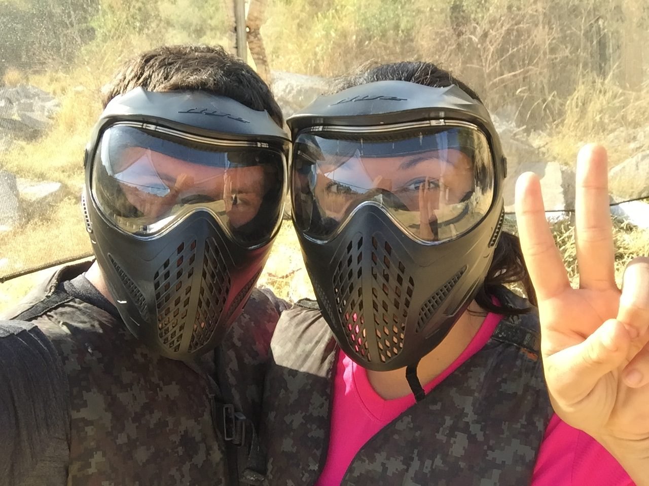 Playing Paintball in El Salvador