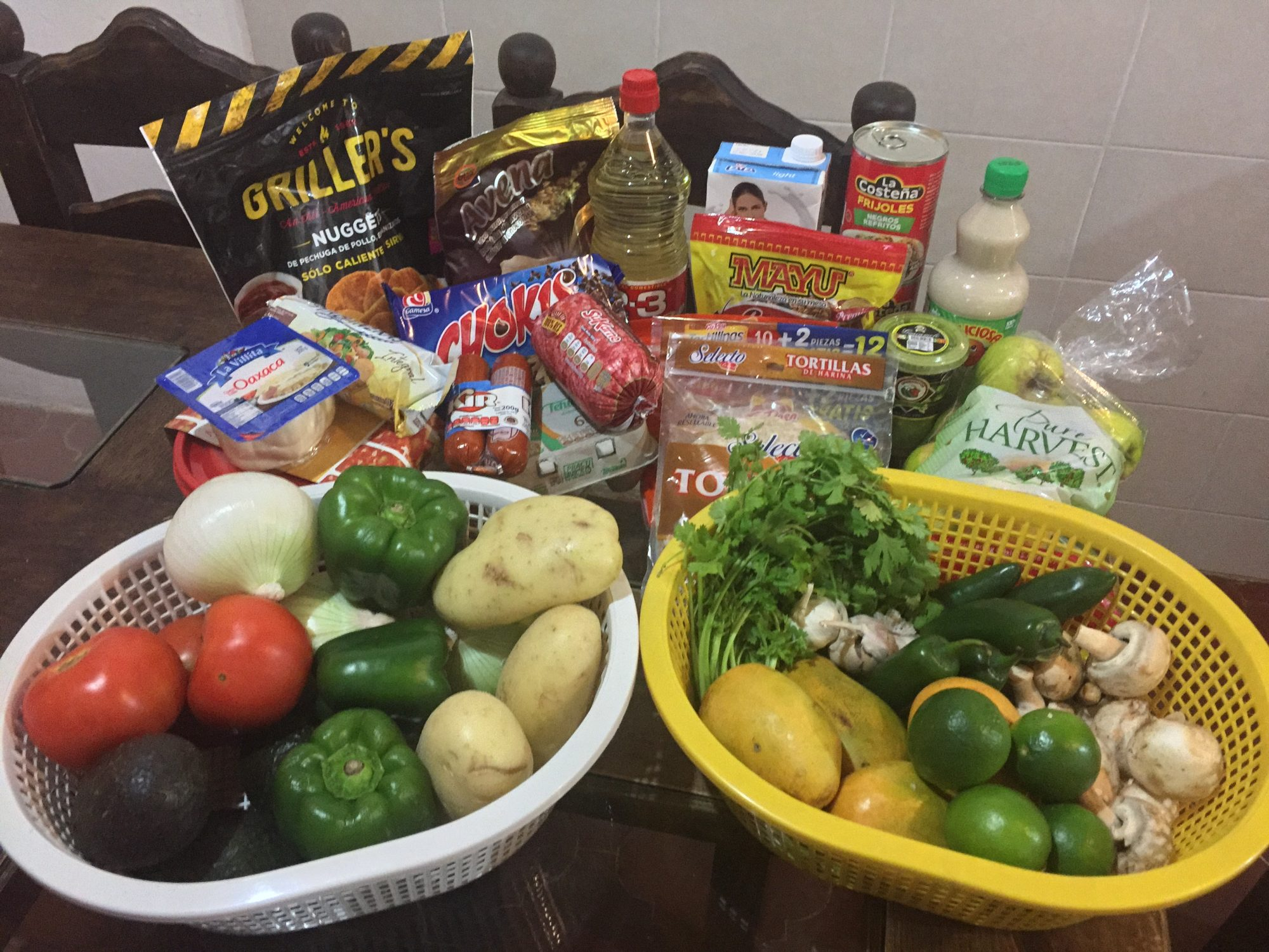 Vegetables And Groceries In Mexico