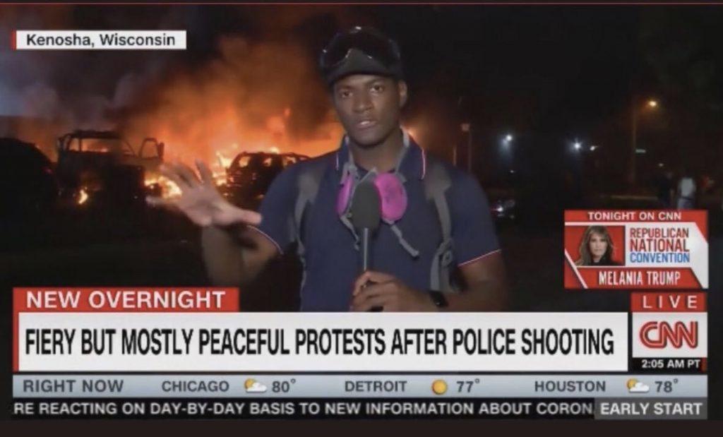 Mostly Peaceful Arson Fire CNN