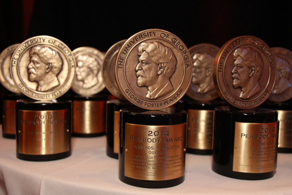 Peabody Award Trophy NYT Podcast Callamachi