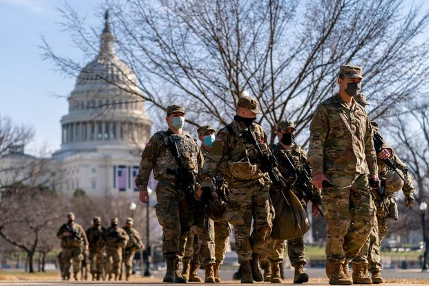 Military Soldiers - Troops in DC For Inauguration